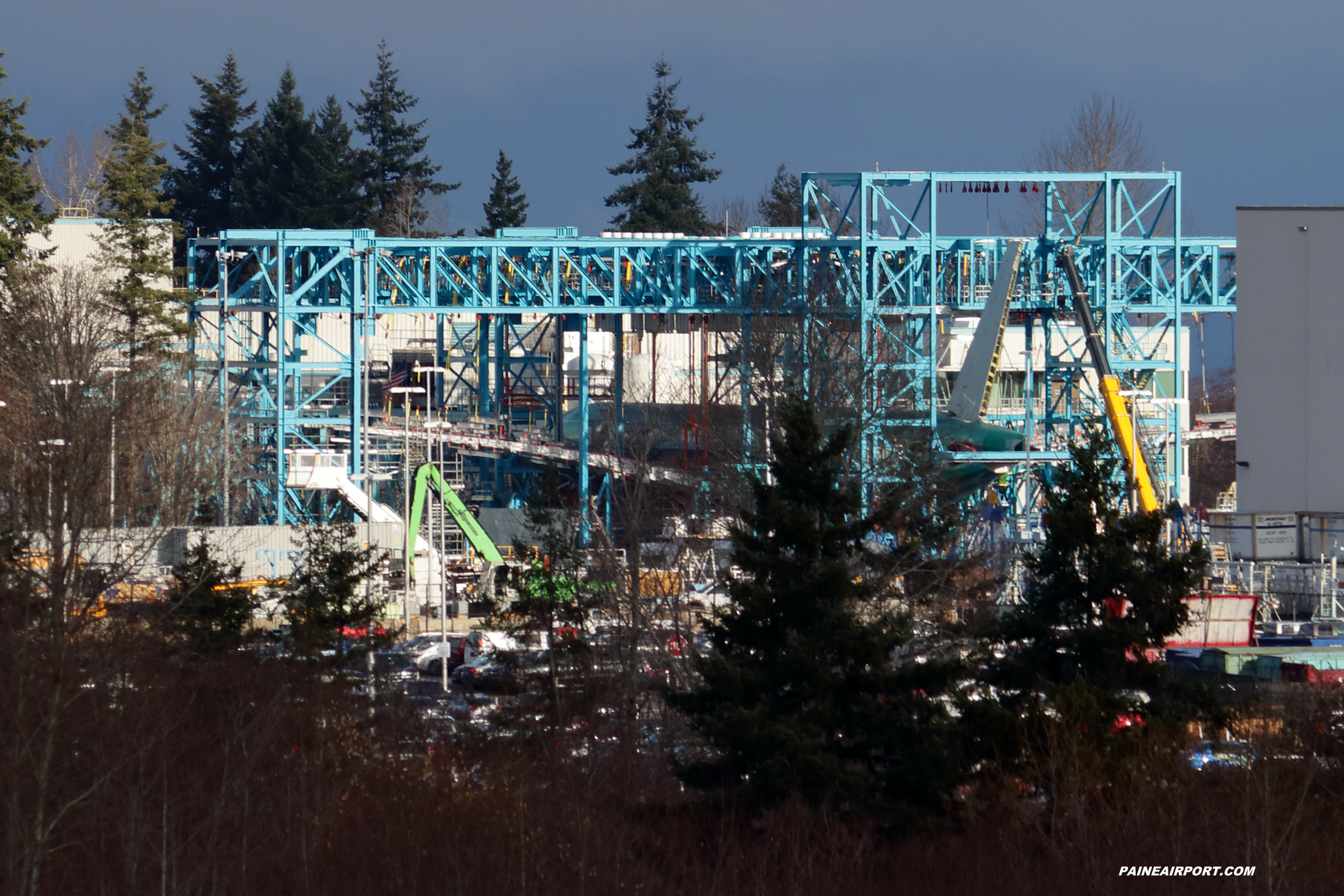 777-9 fatigue test frame at Paine Field