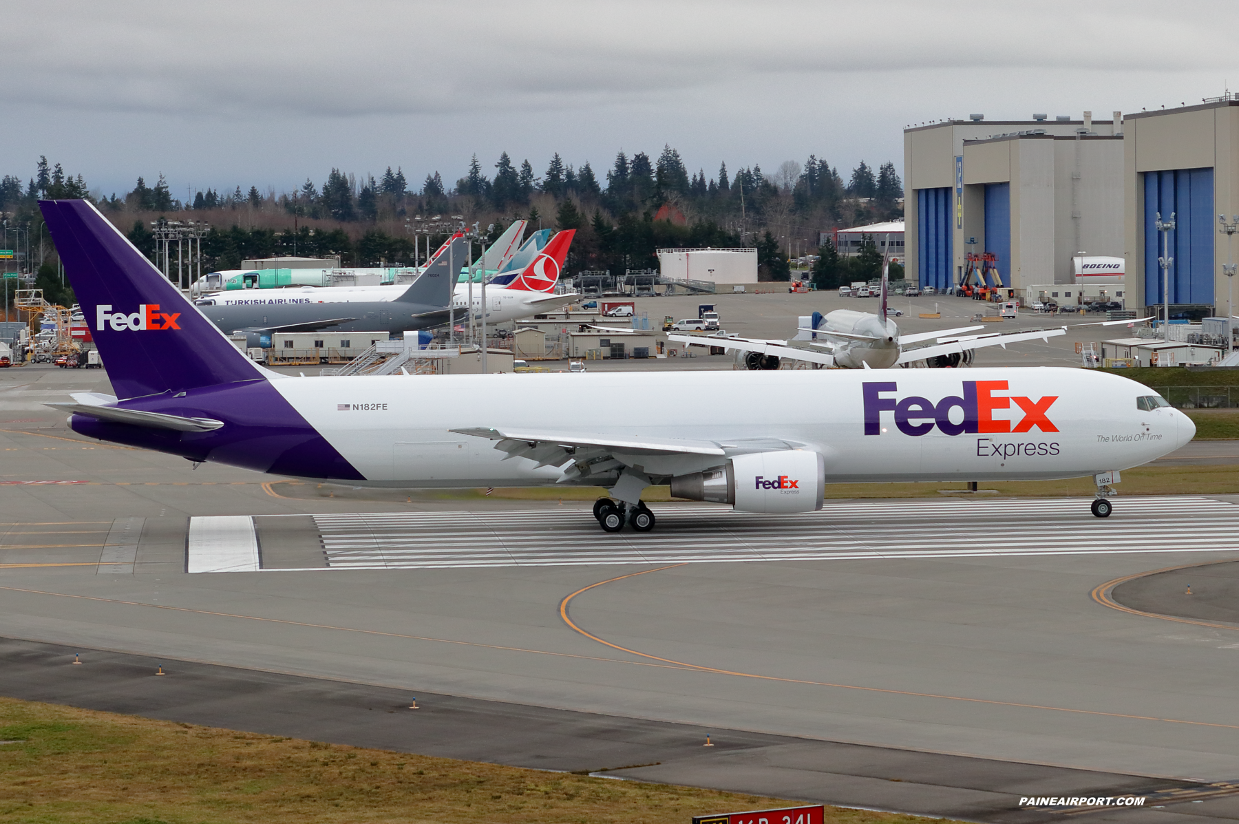 FedEx 767 N182FE at Paine Field