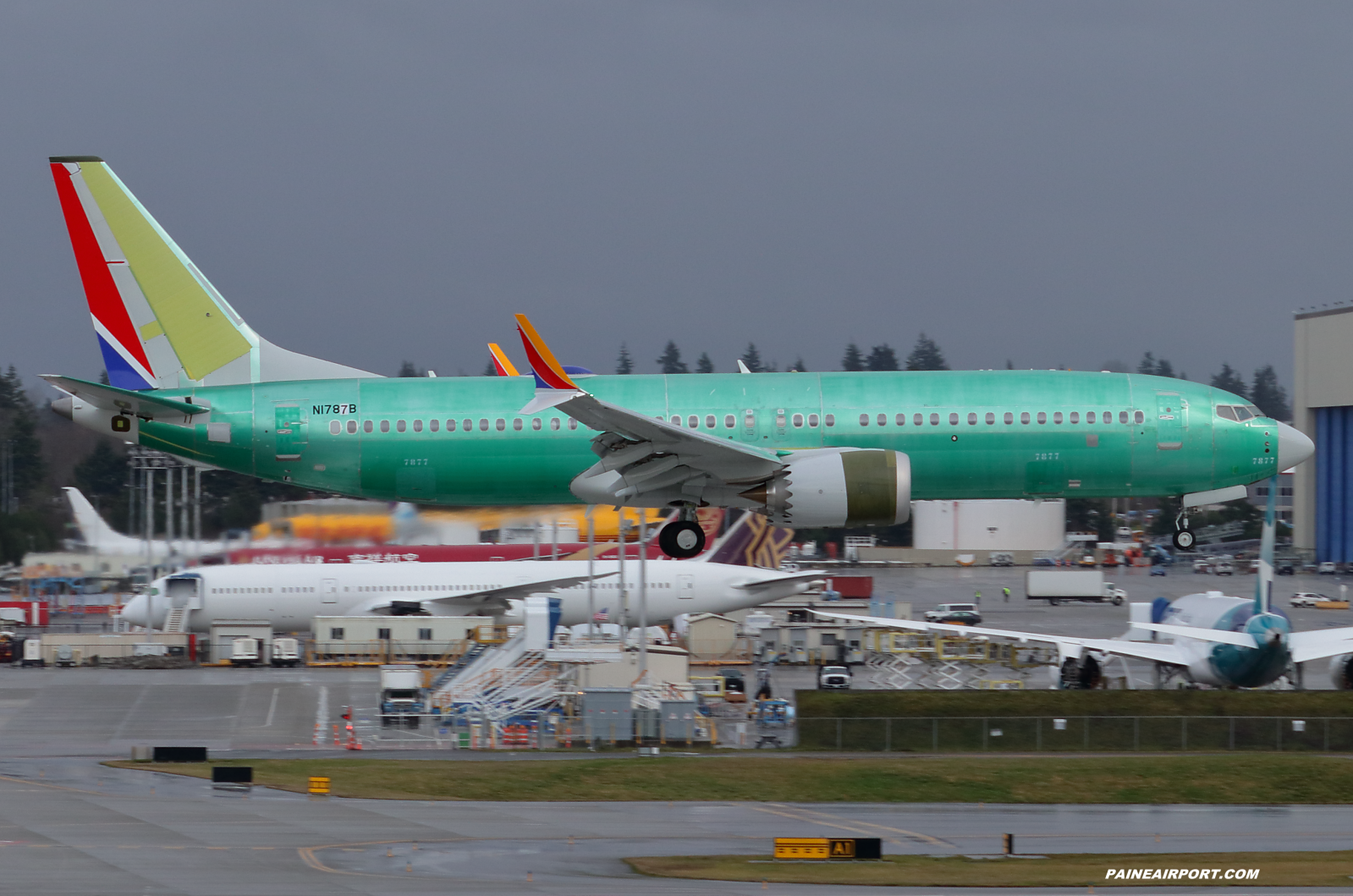 737 N1787B at Paine Field