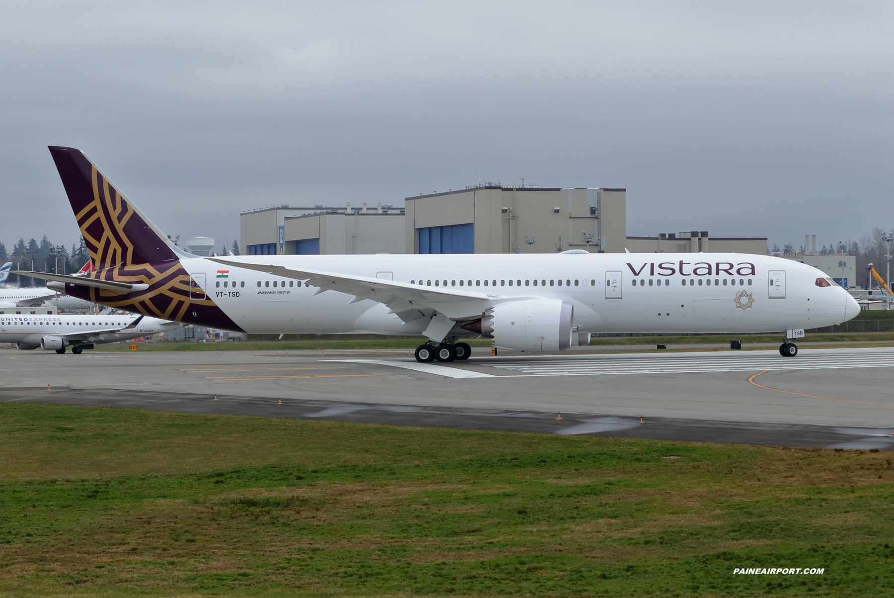 Vistara 787-9 VT-TSD at Paine Field