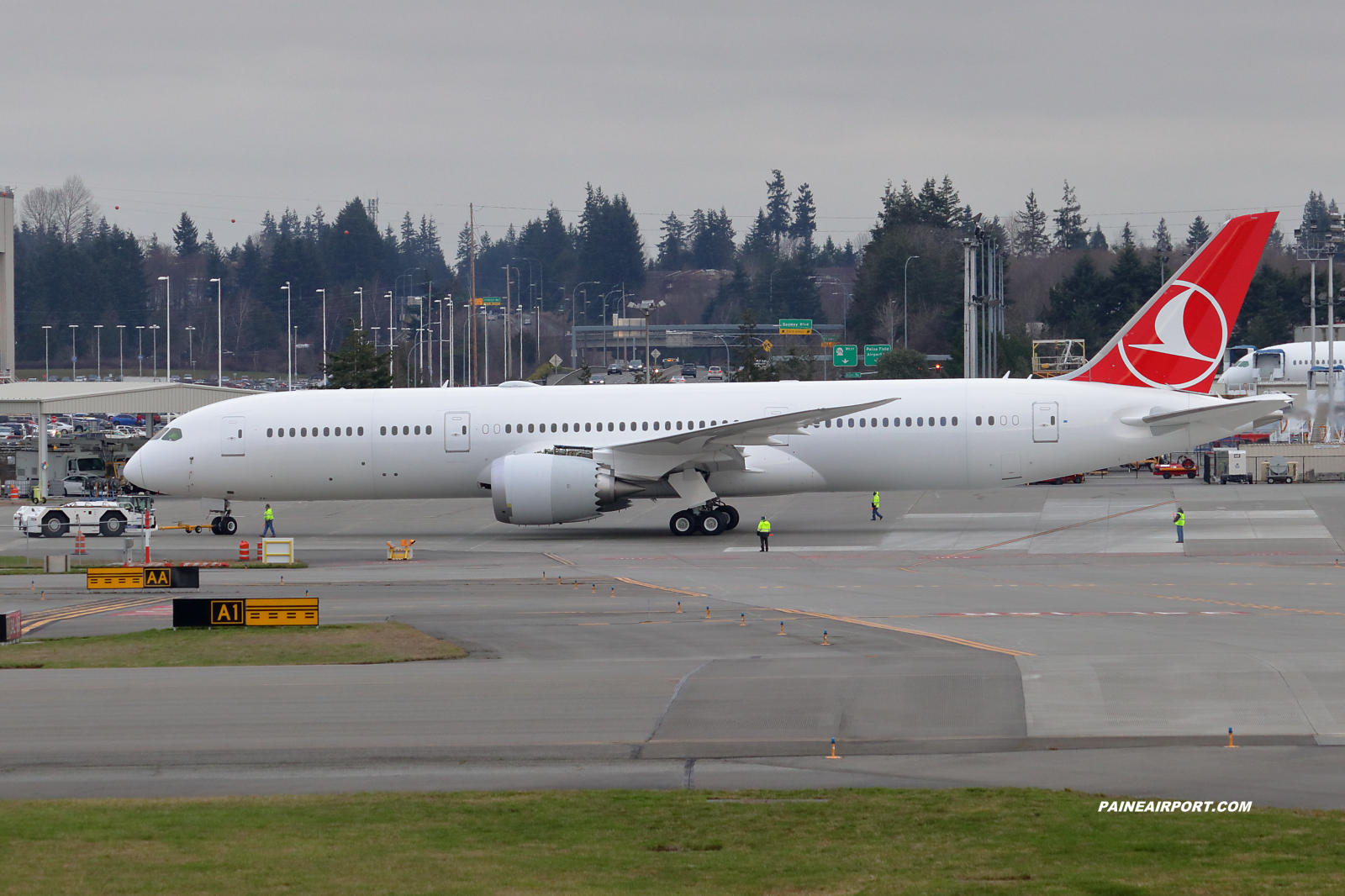 Turkish Airlines 787-9 line 979 at Paine Field