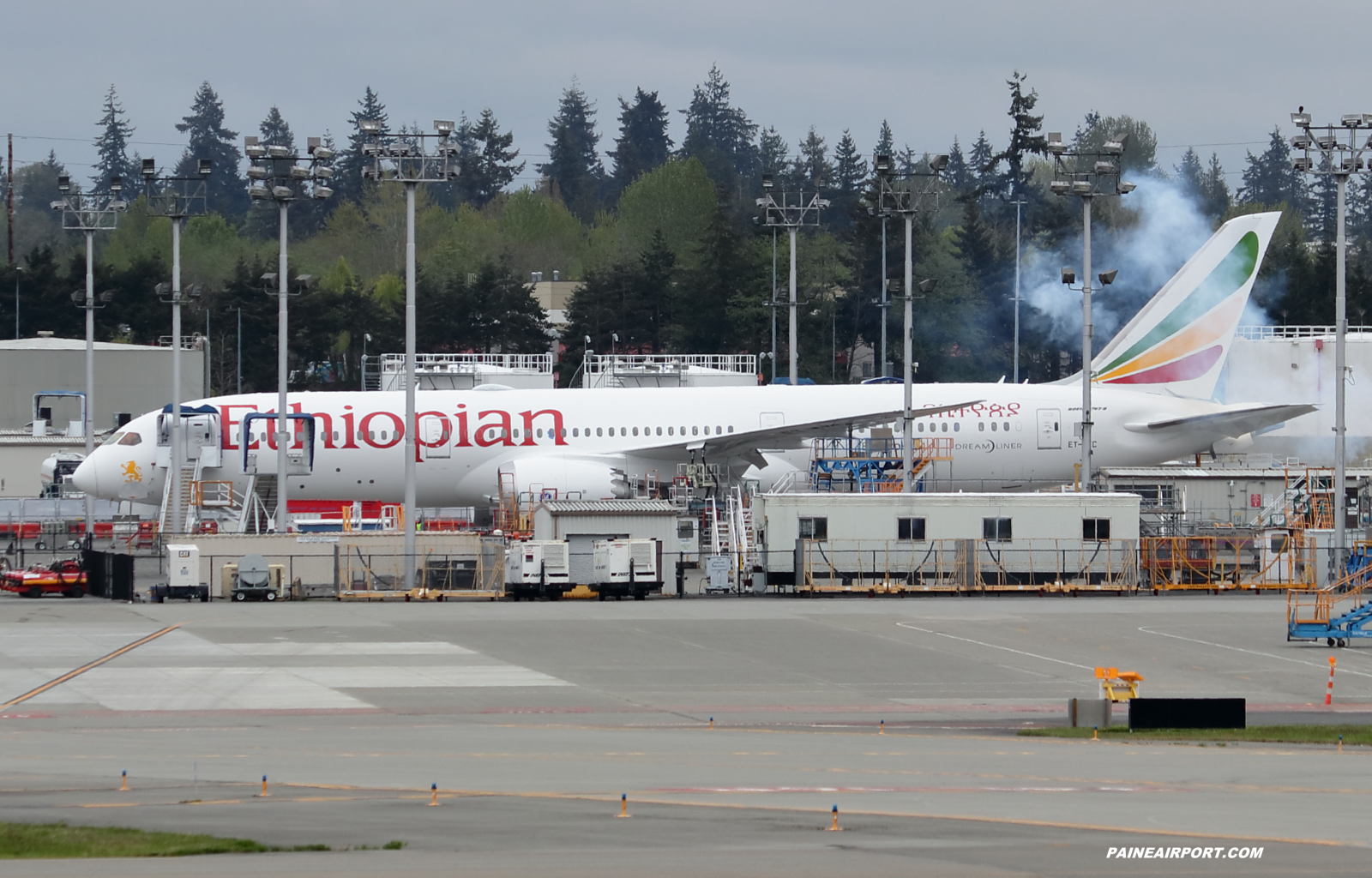 Ethiopian Airlines 787-9 ET-AYC at Paine Field