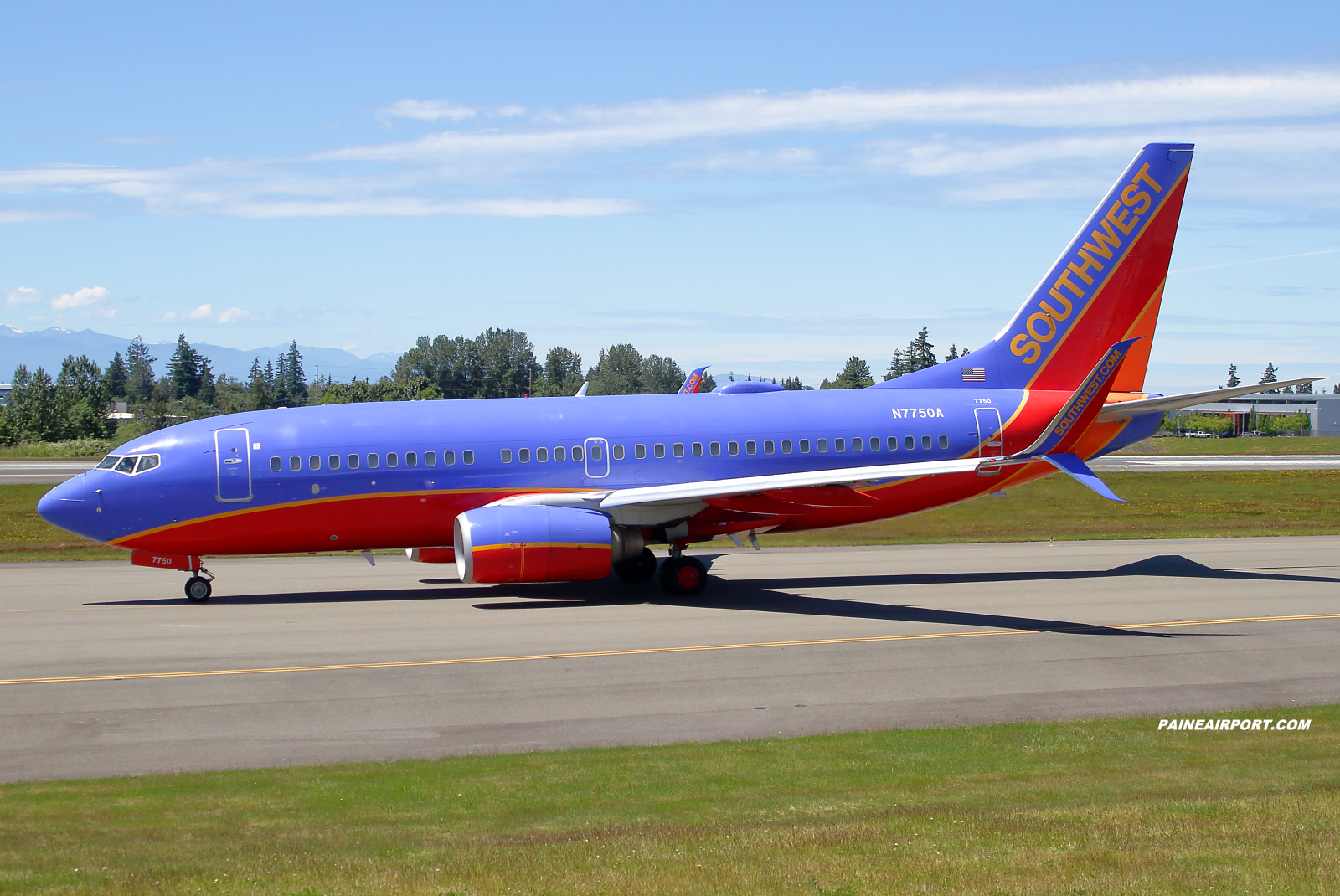 Southwest Airlines 737 N7750A at KPAE Paine Field