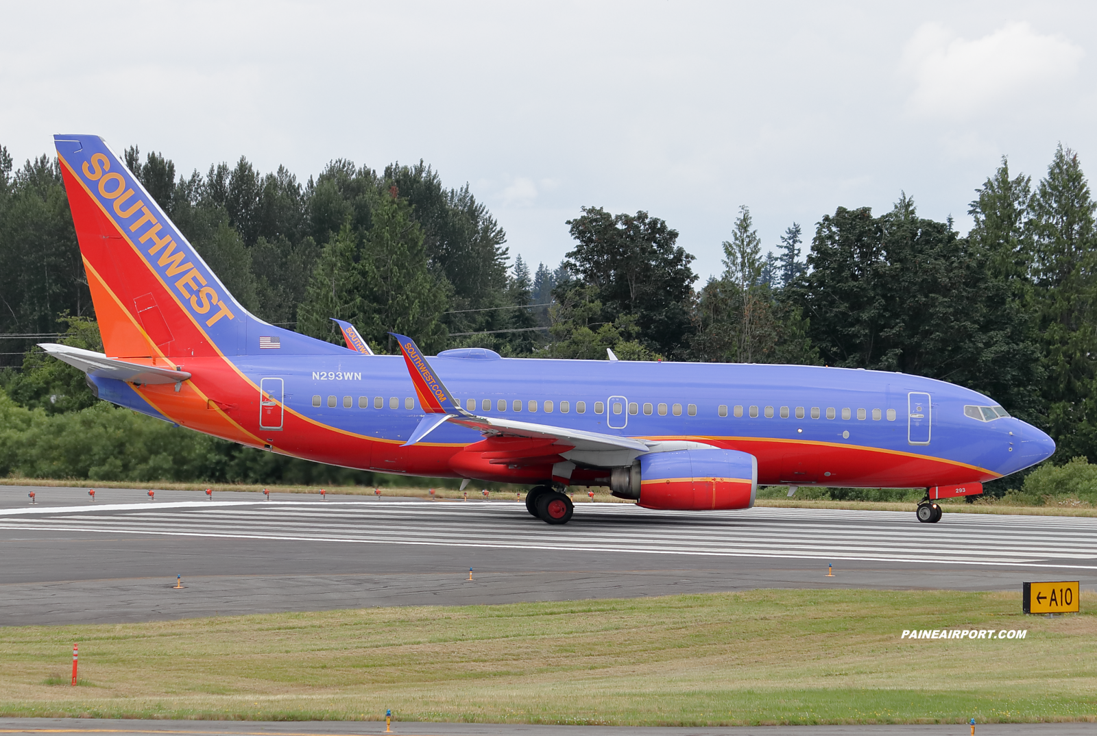 Southwest Airlines 737 N293WN at KPAE Paine Field