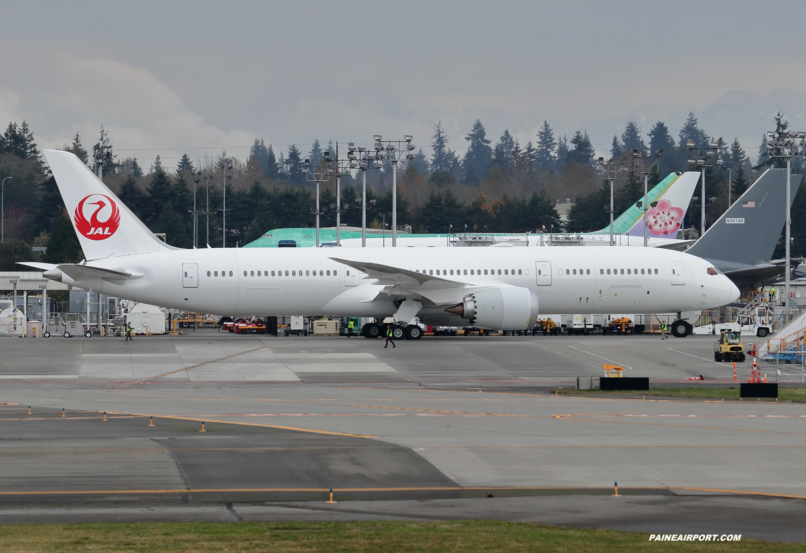 Japan Airlines 787-9 at KPAE Paine Field