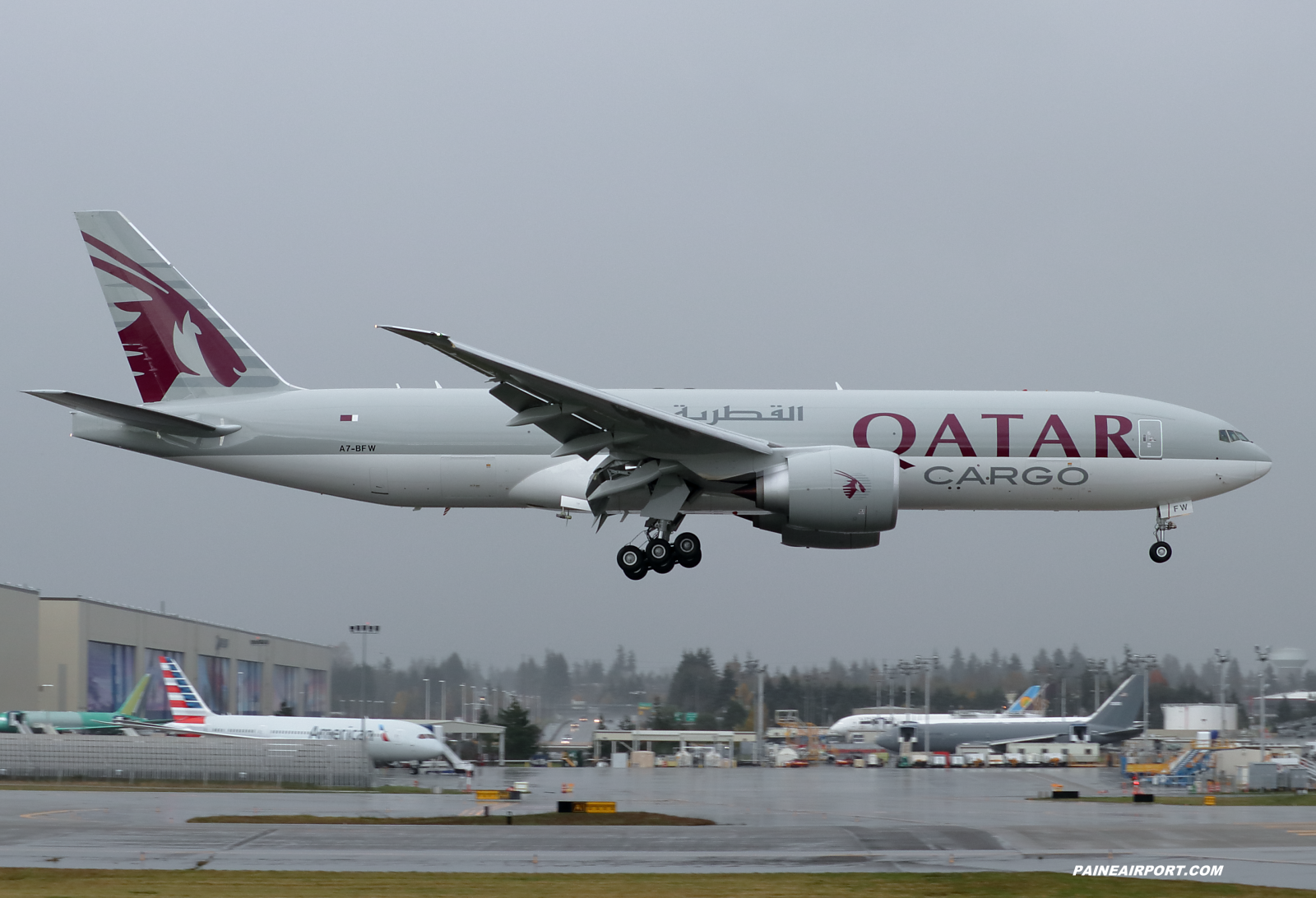 Qatar Cargo 777F A7-BFW at KPAE Paine Field