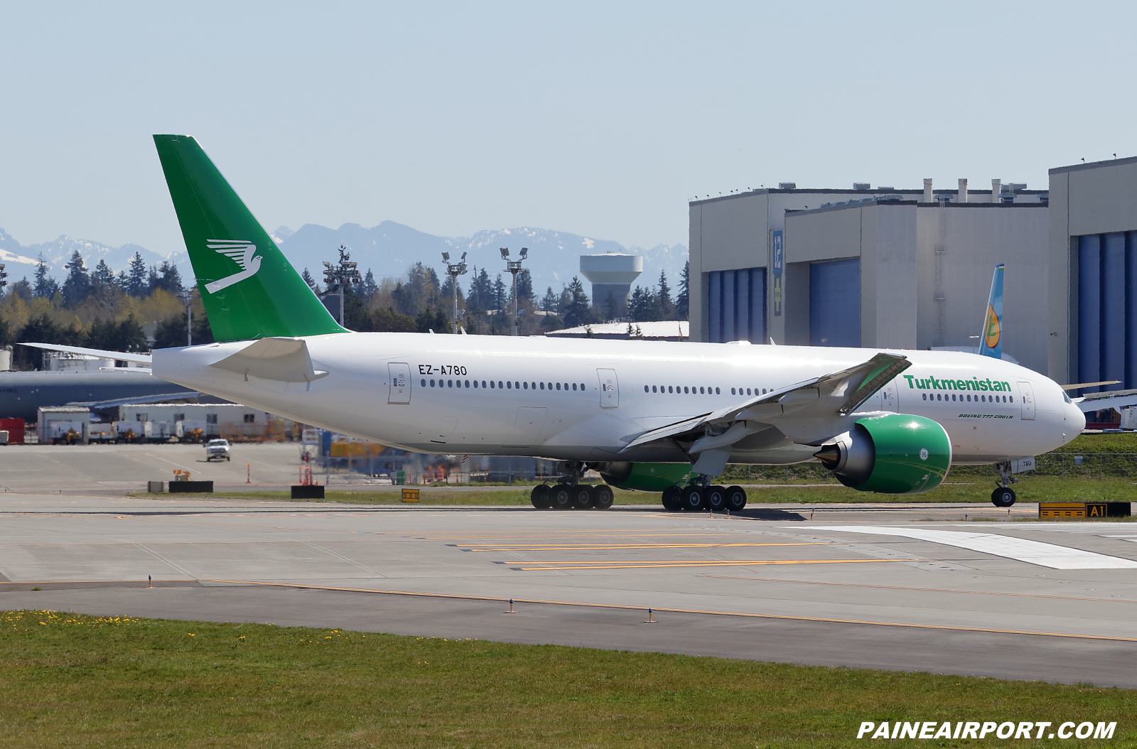 Turkmenistan Airlines 777 EZ-A780 at KPAE Paine Field